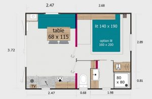 Plan de nos mobil-homes 2 pers
